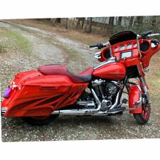 Laguna Orange Airbrushed Stretched Extended Side Cover Harley Street Road Glide