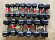 Dumbbell SETS - Weights: 10 15 20 25 30 35 40 LB - Rubberized - Pairs - NEW