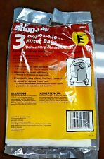 Shop Vac 2 Type E Disposable Filter Bags 5-8 Gallon Medium Filtration open box