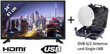 """Grundig GHB5700 12V Volt  HD LED TV Fernseher 24"""" 61 cm LCD DVB-S2/T2/C Camping"""