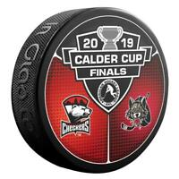 2019 AHL Calder Cup Finals Charlotte Checkers v Chicago Wolves Hockey Puck