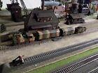 MARKLIN - Märklin, WWII MILITARY STEAM ENGINE WITH THREE WAGONS, SCALE H0/HO