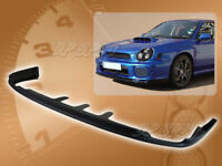 FOR 02-03 SUBARU IMPREZA WRX PRO STYLE FRONT BUMPER LIP BODY SPOILER KIT PU