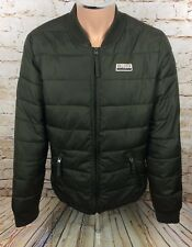 Hollister Padded Puffer Jacket Coat Green Sz Large / L Mens