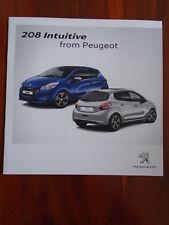 Peugeot 208 intuitive Gamme brochure déc 2012