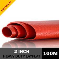 PVC Heavy Duty Red Layflat Hose 2 inch (50mm) - 100 metre roll