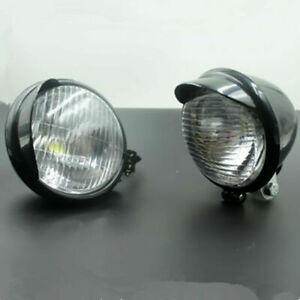 LED Angel Eye Spot Light Fog Light Passing Driving Head Light Cafe Racer Bobber