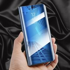 Transparente Ver Smart FUNDA AZUL para Samsung Galaxy S9 Plus g965f Wake Up