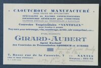 Carte de visite GIRARD AUBERT Goodrich Aurore Ventiflex NANTES old visit card