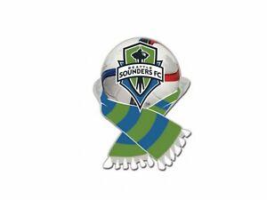 Seattle Sounders FC MLS WinCraft Green & Blue Soccer Scarf Metal Lapel Pin
