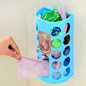 Kitchen Bag Holder Dispenser Grocery Plastic Storage Box Wall Mount R