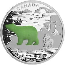 2015 $20 FINE SILVER COIN CANADIAN ICONS - POLAR BEAR