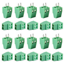 50pcs 2 Pin 2 Way 2.54mm Straight Pitch PCB Screw Terminal Block Connector