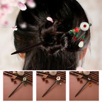 Women's Chinese Retro Style Flower Wooden Hairpin Hair Stick Hairpin  Hair Pins