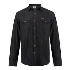 ✅ LEE COOPER Herren Hemd langarm Jeans Denim Gr.S-XXL Freizeit Long Shirt Black