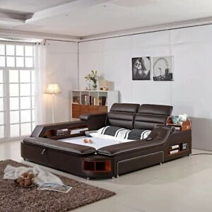 Smart Multi Functional Modern Massage Bed. Genuine Italian Leather Free Shipping