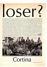 1964 FORD CORTINA GT  ~  NICE ORIGINAL PRINT AD