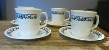 Set of 4 OLD TOWN BLUE ONION COFFEE CUPS/MUGS AND SAUCERS