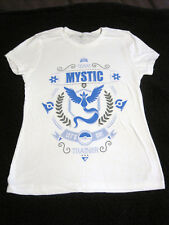 Teefury Pokemon Mystic T-Shirt Women's Fitted M Medium White Pre-Owned