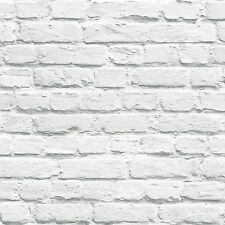 Muriva Pintado Blanco Papel Pintado Ladrillo (102539) NUEVO Muro ELEMENTO