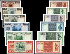 !COPY! DANZIG 10, 20, 25,100, 500, 1000 GULDEN 1924-1937 BANKNOTES !NOT REAL!