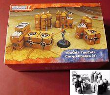 Micro Art T00084 TauCeti Cargo Crates (4) Miniatures Terrain Containers Boxes