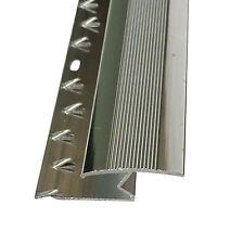 Z Edge Carpet Metal Door Bar Trim - Threshold - Brass/Silver Carpet to Laminate