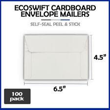 100 65x45 Ecoswift Brand Self Seal Rigid Photo Cardboard Envelope Mailers