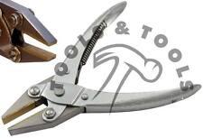 Un' azione parallela FLAT NOSE Pinze Jewelry Making lavoro filo liscio in ottone JAWS suggerimenti