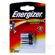 2 x Energizer Alkaline 4LR44 A544 batteries 6V PX28A 476A EXP:2020 Pack of 2