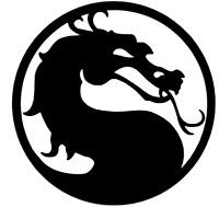 2 decals SUB ZERO NetherRealm Studio Mortal Combat sticker 3.5in scorpion lot