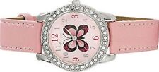 Tikkers Girls' Pink Butterfly Dial Watch Stone Set/ Easter Party Birthday Gifts
