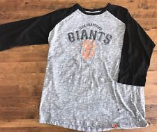 San Francisco Giants T-Shirt Tee Women's Size Large 3/4 sleeve Majestic MLB
