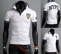 New Fashion Men's Casual Polo Shirt Slim Fit Short Sleeve Sport T-shirts Tops k