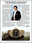 1983 Rolex Oyster GMT Master Watch Placido Domingo retro photo print ad ads19