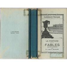 FABLES de LA FONTAINE par l'Abbé O. MEURISSE + d'Autres Fabulistes Français 1963