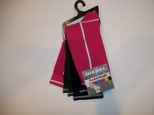 DIESEL Jeans Fresh & Bright Cotton Blend 3 PR Dress SOCKS Mens Size 9.5 - 12 NEW