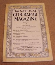 National Geographic July 1921 Grand Banks France Japan Adventure w Camera