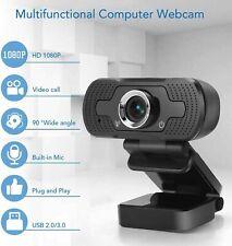 More details for autofocus usb webcam 1080p hd web camera microphone for pc desktop laptop mic uk