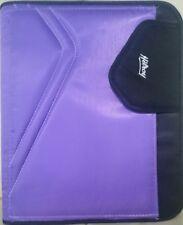 "Hilroy Zipper Binder 1.5"" 3 Ring Expanding File Purple"