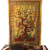 Tree Of Life Psychedelic Twin Wall Hanging Tie Dye Tapestry Throw Ethnic Throw1