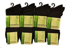 Mens Bamboo Socks Loose Super Soft Anti Bacterial Size 6-11 1 Pair, 3 Pair