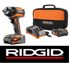 RIDGID 18v GEN5X BRUSHLESS STEALTH IMPACT DRIVER +2 BATTERIES & CHARGER 36/86/92