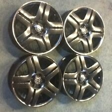 "1 set of 4 Vw Oem 17""x7.5 longbeach rims wheels black chrome"