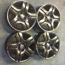 "1 set of 4 Vw Oem 17""x7.5 longbeach rims wheels black chrome"