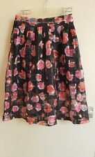 QED London Floral Pattern Skirt Size 12