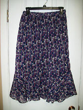 **ANTHONY RICHARDS**Fully lined ruffle hem skirt size((12))100% Polyester.EUC.