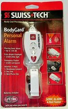Swiss Tech BodyGard Personal Alarm Sonic with Flasher Safety Emergency Free ship
