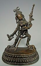 Tibet Tibetan Bronze Figure of a Deity Holding Attributes ca. 18-19th century
