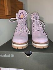 NIB TIMBERLAND COURMAYEUR VALLEY 6-INCH BOOT WOMEN'S - Light Purple Suede